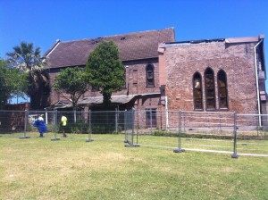 Safety fences for demolition work to begin. Marrickville council ignores the outcry from the Coptic Community.