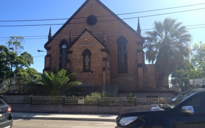 Demolition fences removed from Coptic Church at Sydenham